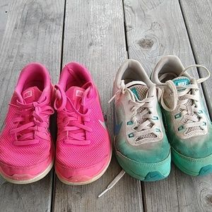 2 pair girls Nike size 1.5 and 2